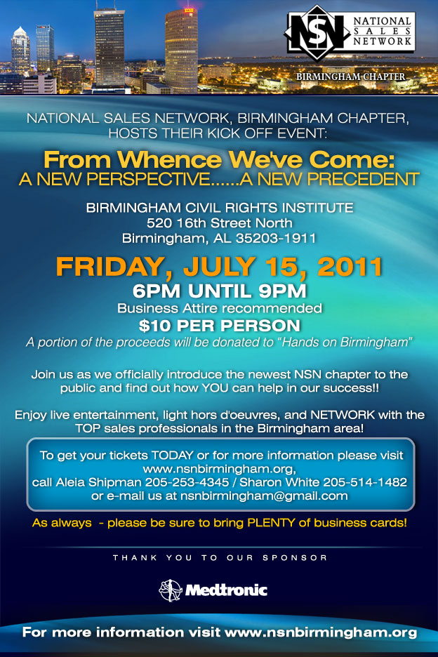 National Sales Network (NSN) Birmingham (AL) Pre-Conference Event - July 15, 2011