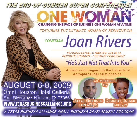 Texas Business Alliance One Woman Conference